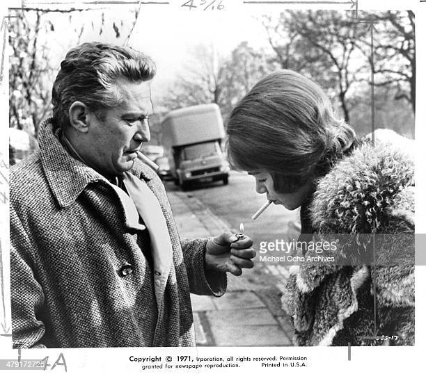 Actor Peter Finch and actress Glenda Jackson in a scene from the United Artist movie Sunday Bloody Sunday circa 1971