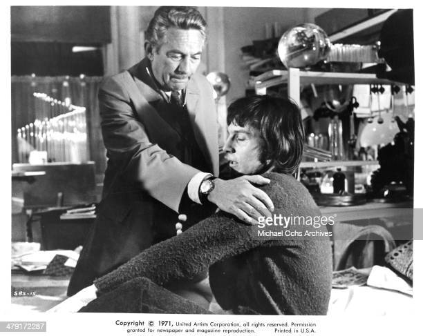 Actor Peter Finch and Murray Head in a scene from the United Artist movie Sunday Bloody Sunday circa 1971