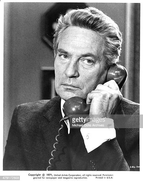 Actor Peter Finch in a scene from the United Artist movie Sunday Bloody Sunday circa 1971