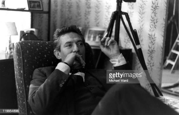 Actor Peter Finch on the set of the film ' No Love for Johnny' Pinewood Studios Britain 1960