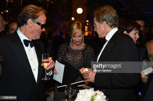Actor Peter Fonda actress Melanie Griffith and actor Warren Beatty attend the after party for the 40th AFI Life Achievement Award honoring Shirley...