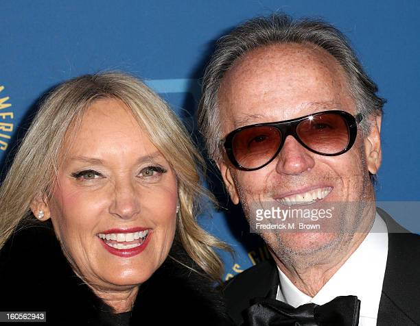Actor Peter Fonda and Parky Fonda attend the 65th Annual Directors Guild Of America Awards at Ray Dolby Ballroom at Hollywood Highland on February 2...