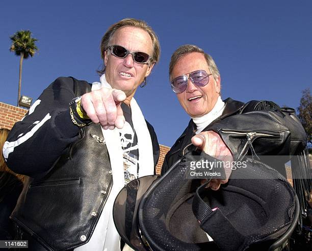 Actor Peter Fonda and Pat Boone arrive at the 17th Annual Love Ride November 12 2000 in Glendale CA