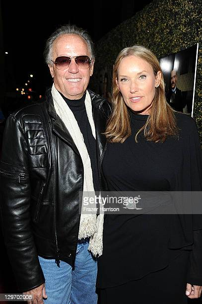 Actor Peter Fonda and Portia Rebecca Crockett arrive at the LA pemiere of Sony Pictures Classics' A Dangerous Method at the Academy Samuel Goldwyn...