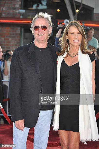 Actor Peter Fonda and wife Portia Rebecca Crockett arrive at the Los Angeles Film Festival for the premiere of Universal Pictures' Public Enemies...