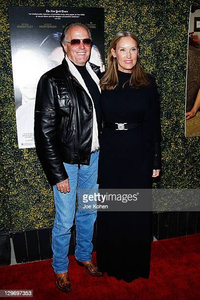 Actor Peter Fonda and wife Portia Rebecca Crockett attend the A Dangerous Method Los Angeles premiere at AMPAS Samuel Goldwyn Theater on October 19...
