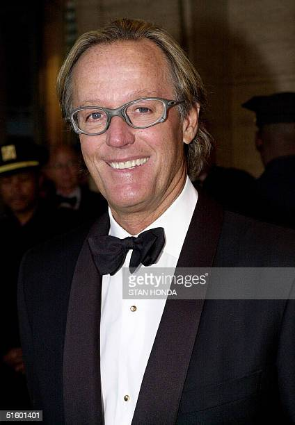 Actor Peter Fonda arrives 07 May in Avery Fisher Hall at Lincoln Center in New York to attend The Film Society of Lincoln Center's tribute to his...