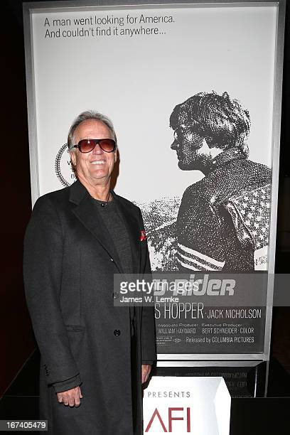 Actor Peter Fonda attends Easy Rider at Target Presents AFI's Night at the Movies at ArcLight Cinemas on April 24 2013 in Hollywood California