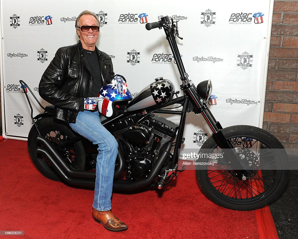 The Launch Of Peter Fonda's New Men's Fashion Line And Protective Riding Gear Collection For Troy Lee Designs : Nachrichtenfoto