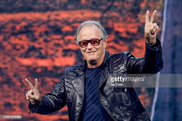 US actor Peter Fonda during the tv show 'Gottschalks grosse 68er Show' on September 6 2018 in Hamburg Germany