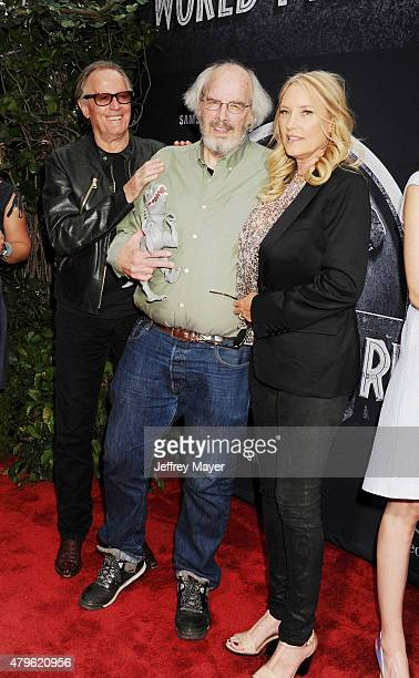 Actor Peter Fonda paleontologist consultant Jack Horner and Parky Fonda arrive at the 'Jurassic World' World Premiere at Dolby Theatre on June 9 2015...