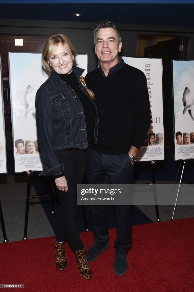Actor Peter Gallagher (R) and producer Paula Harwood arrive at the premiere of Sony Pictures Classics' 'The Seagull' at the Writers Guild Theater on May 1, 2018 in Beverly Hills, California.