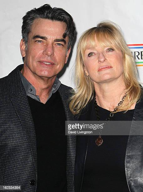 Actor Peter Gallagher and wife Paula Wildash attend the 8th Annual Oscar Wilde Honoring The Irish In Film PreAcademy Awards Event at Bad Robot on...
