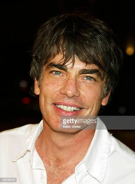 Actor Peter Gallagher arrives at a viewing party for Fox TV's 'The OC' at Sharkeez Resturant on September 9 2003 in Hermosa Beach California