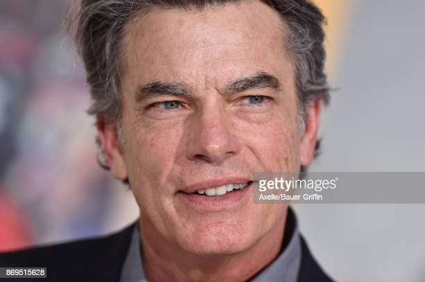 Actor Peter Gallagher arrives at the Los Angeles premiere of 'A Bad Moms Christmas' at Regency Village Theatre on October 30 2017 in Westwood...