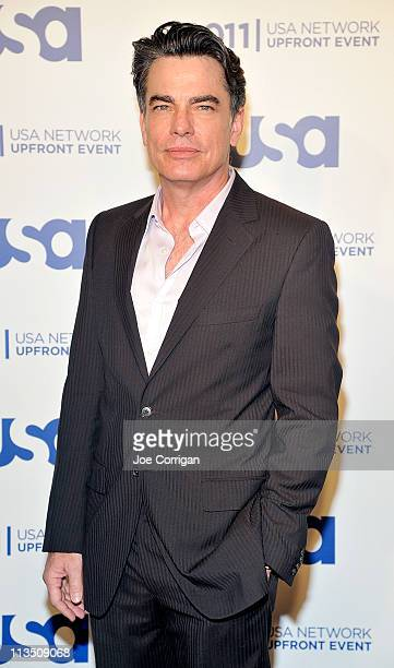 Actor Peter Gallagher attends the 2011 USA Upfront at The Tent at Lincoln Center on May 2 2011 in New York City