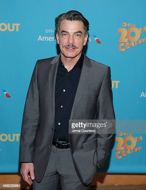Actor Peter Gallagher attends the opening night performance of On The Twentieth Century at American Airlines Theatre on March 12 2015 in New York City
