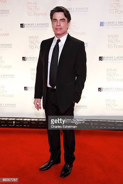 Actor Peter Gallagher attends the RFK Center Ripple of Hope Awards dinner at Pier Sixty at Chelsea Piers on November 18 2009 in New York City