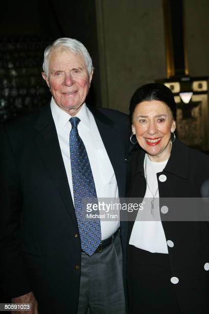 Actor Peter Graves and wife Joan Endress attend the luncheon hosted by The Hollywood Chamber and Commerce honoring actress Esther Williams with the...