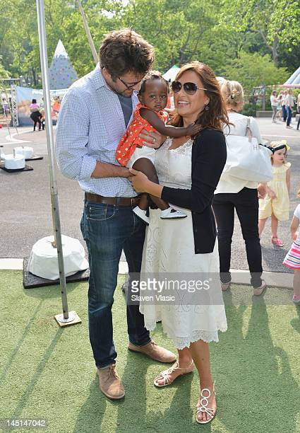 Actor Peter Hermann actress Mariska Hargitay with their baby girl Amaya Josephine attend the 20th Annual Playground Partners Family Party at Central...