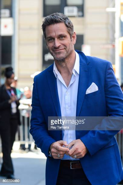 Actor Peter Hermann enters the AOL Build taping at the AOL Studios on June 27 2017 in New York City