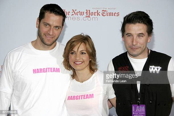 Actor Peter Hermann his wife actress Mariska Hargitay and actor Billy Baldwin arrive at the 8th Annual Revlon Run/Walk for Women at Times Square...