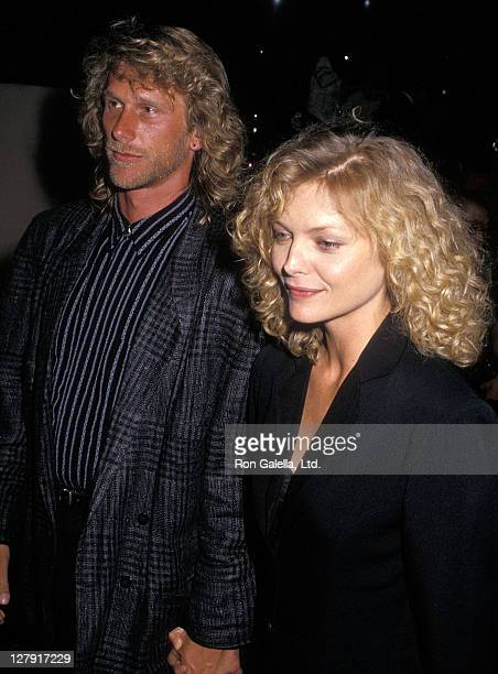"Actor Peter Horton and actress Michelle Pfeiffer attend the ""Married to the Mob"" Beverly Hills Premiere on August 11, 1988 at the Academy Theatre in..."