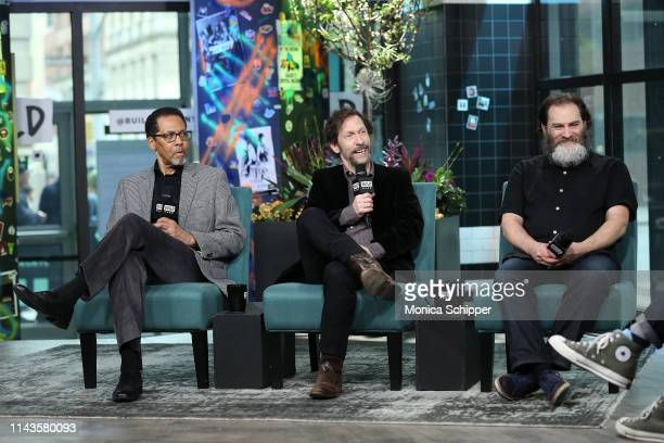 Actor Peter Jay Fernandez actor writer and director Tim Blake Nelson and actor Michael Stuhlbarg discuss the offBroadway play Socrates when they...