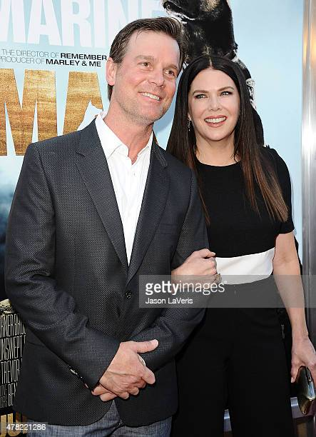 Actor Peter Krause and actress Lauren Graham attend the premiere of 'MAX' at the Egyptian Theatre on June 23 2015 in Hollywood California