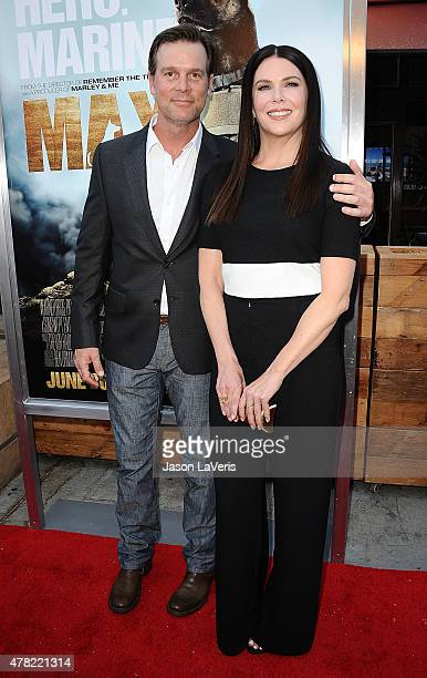 """Actor Peter Krause and actress Lauren Graham attend the premiere of """"MAX"""" at the Egyptian Theatre on June 23, 2015 in Hollywood, California."""
