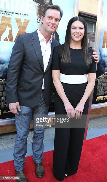 Actor Peter Krause and actress Lauren Graham attend the Premiere of Warner Bros Pictures and MetroGoldwynMayer Pictures 'Max' held at the Egyptian...