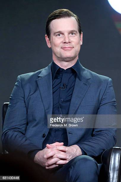 Actor Peter Krause of the television show 'The Catch' speaks onstage during the DisneyABC portion of the 2017 Winter Television Critics Association...