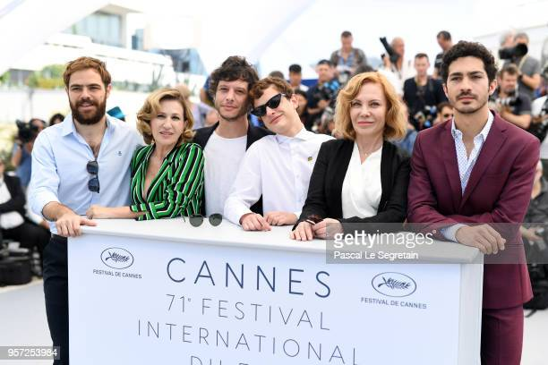 Actor Peter Lanzani actress Mercedes Moran writer Luis Ortega actor Lorenzo Ferro actress Cecilia Roth and actor Chino Darin attend the photocall for...