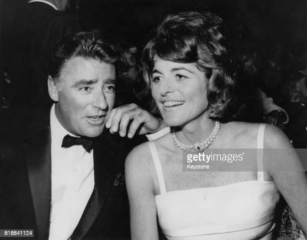Actor Peter Lawford and his wife Pat Kennedy at an Eddie Fisher concert at Cocoanut Grove USA 13th June 1962