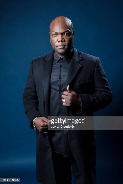 Actor Peter Macon from of 'The Orville', is photographed for Los Angeles Times on March 17, 2018 at the PaleyFest at the Dolby Theatre in Hollywood,...