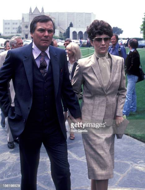 Actor Peter Marshall attends Jim Davis Funeral Service on May 1 1981 at Forest Lawn Memorial Park in Los Angeles California