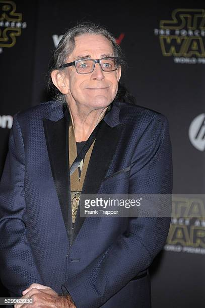 Actor Peter Mayhew arrives at the premiere of 'Star Wars The Force Awakens in Hollywood