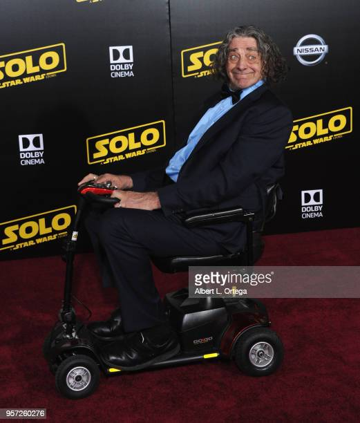 """Actor Peter Mayhew arrives for the Premiere Of Disney Pictures And Lucasfilm's """"Solo: A Star Wars Story"""" held on May 10, 2018 in Los Angeles,..."""