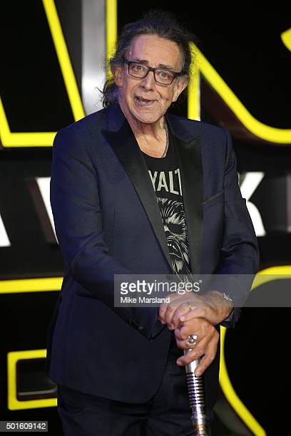 Actor Peter Mayhew attends the European Premiere of 'Star Wars The Force Awakens' at Leicester Square on December 16 2015 in London England