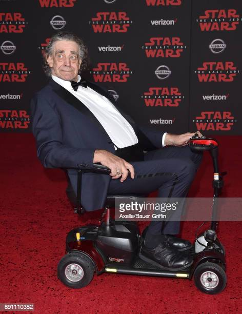 Actor Peter Mayhew attends the Los Angeles premiere of 'Star Wars The Last Jedi' at The Shrine Auditorium on December 9 2017 in Los Angeles California
