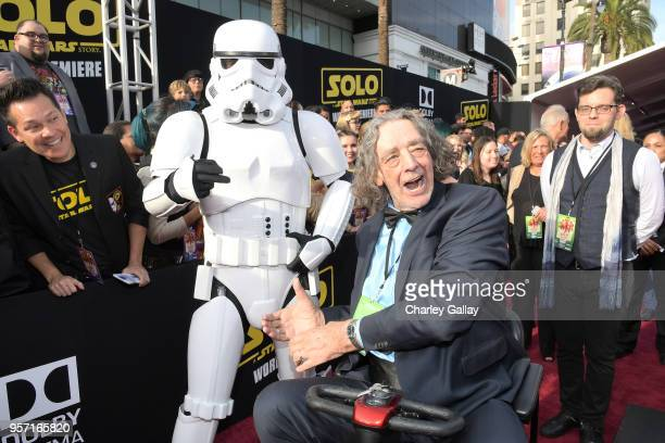 """Actor Peter Mayhew attends the world premiere of """"Solo A Star Wars Story"""" in Hollywood on May 10 2018"""