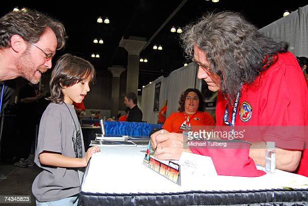Actor Peter Mayhew who played Chewbacca in the Star Wars movies appears at the 'Star Wars Celebration IV' convention held at the Los Angeles...