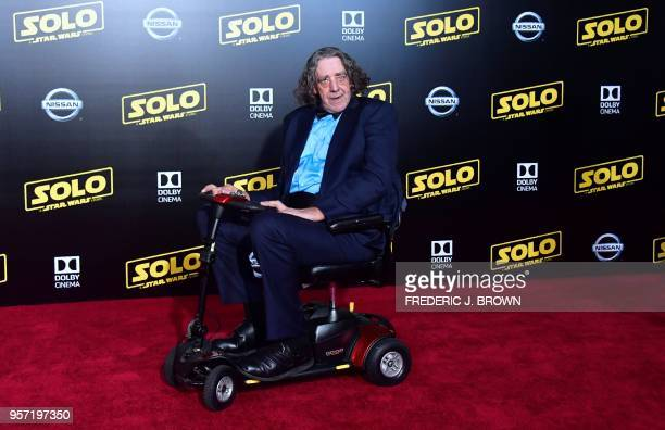 Actor Peter Mayhew who played the original Chewbacca arrives for the premiere of the film 'Solo A Star Wars Story' in Hollywood California on May 10...