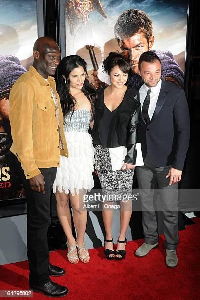 Actor Peter Mensah actress Katrina Law actress Marisa Ramirez and actor Nick Tarabay arrive for The Los Angeles Premiere of Showtime's 'Spartacus War...