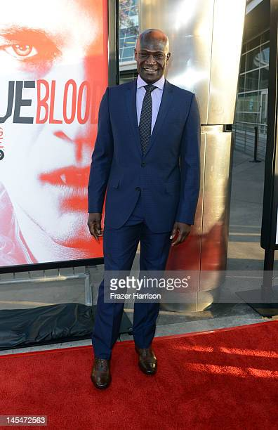 Actor Peter Mensah arrives at the Premiere of HBO's 'True Blood' 5th Season at ArcLight Cinemas Cinerama Dome on May 30 2012 in Hollywood California
