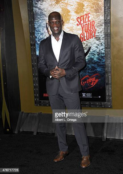 Actor Peter Mensah arrives for the Premiere Of Warner Bros Pictures And Legendary Pictures' '300 Rise Of An Empire' held at TCL Chinese Theatre on...