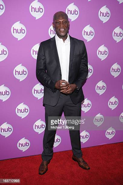 Actor Peter Mensah attends the premiere of Hub TV Network's 'Transformer's Prime Beast Hunters' at The Globe Theatre at Universal Studios on March 14...