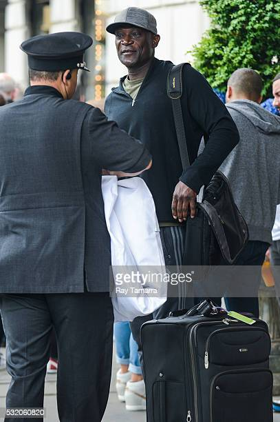 Actor Peter Mensah leaves a Midtown Manhattan hotel on May 17 2017 in New York City