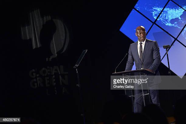 Actor Peter Mensah speaks at Global Green USA's 18th Annual Millennium Awards at the Fairmont Miramar Hotel on June 7 2014 in Santa Monica California