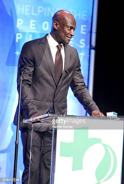 Actor Peter Mensah speaks onstage during the Global Green USA 19th Annual Millennium Awards on June 6 2015 in Century City California